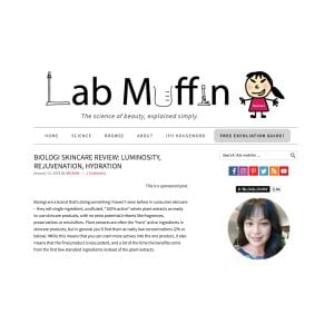 AS SEEN ON… LAB MUFFIN BEAUTY SCIENCE