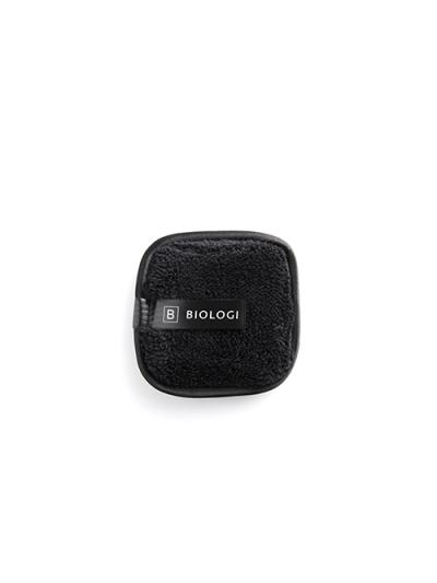 Black microfibre face cloth